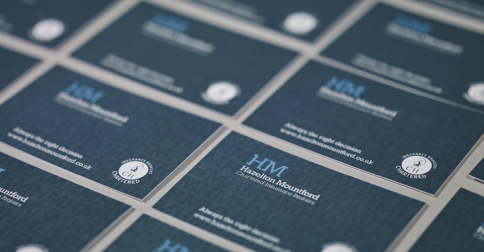 Hazelton Mountford - Business Card Design & Production