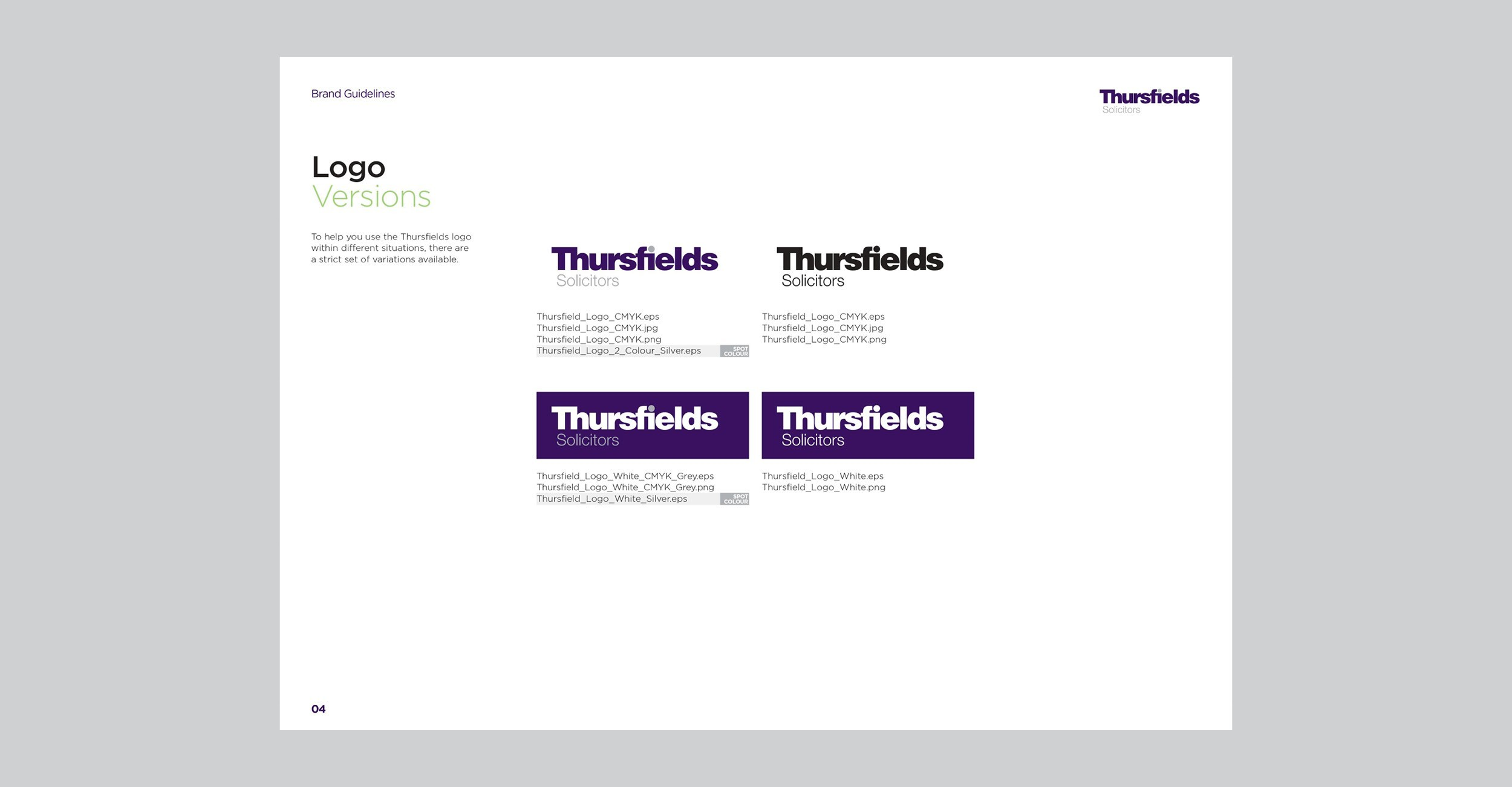 Thursfields Solicitors - Identity Update - Brand Guidelines - Example 1