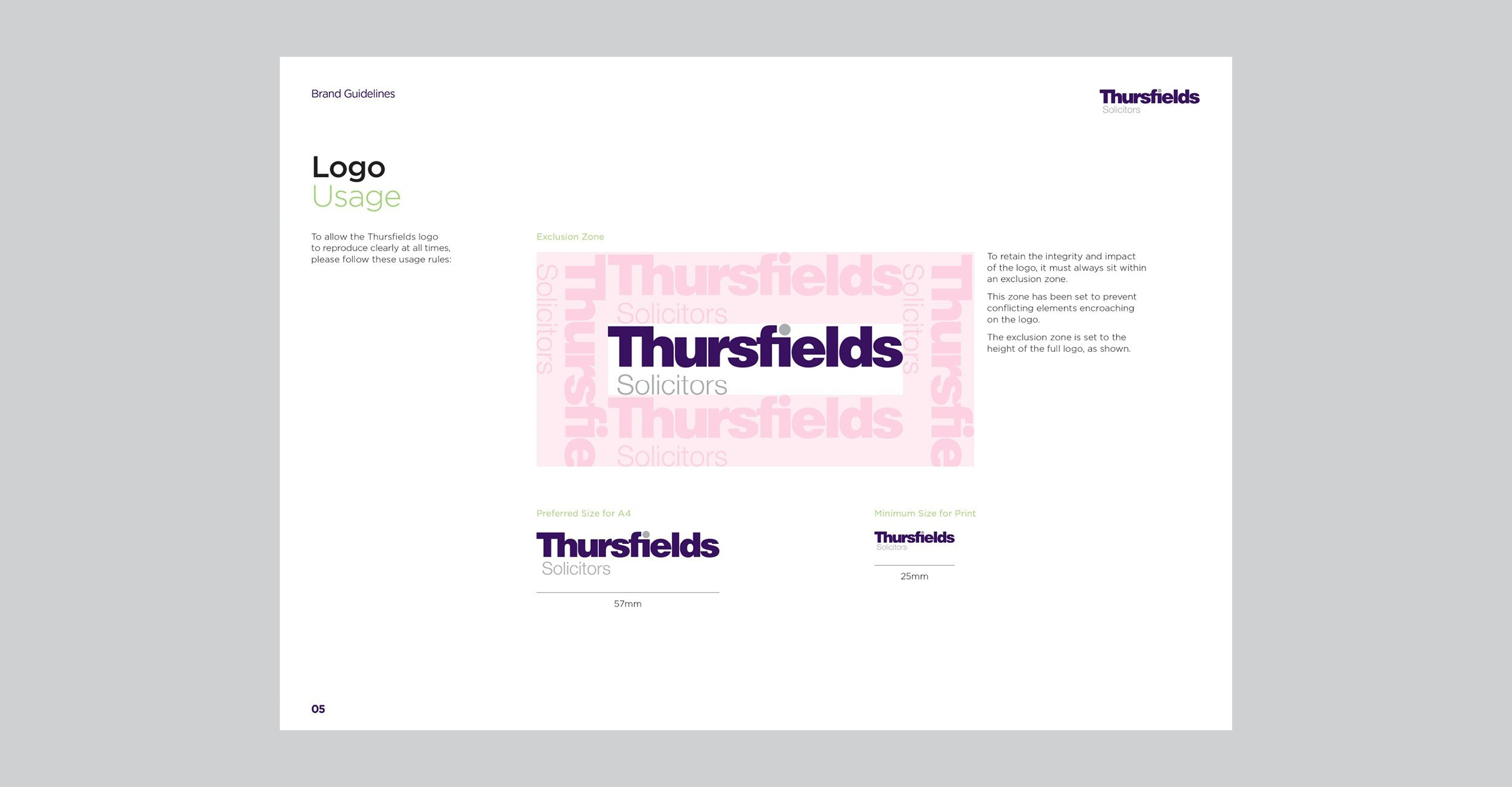 Thursfields Solicitors - Identity Update - Brand Guidelines - Example 2