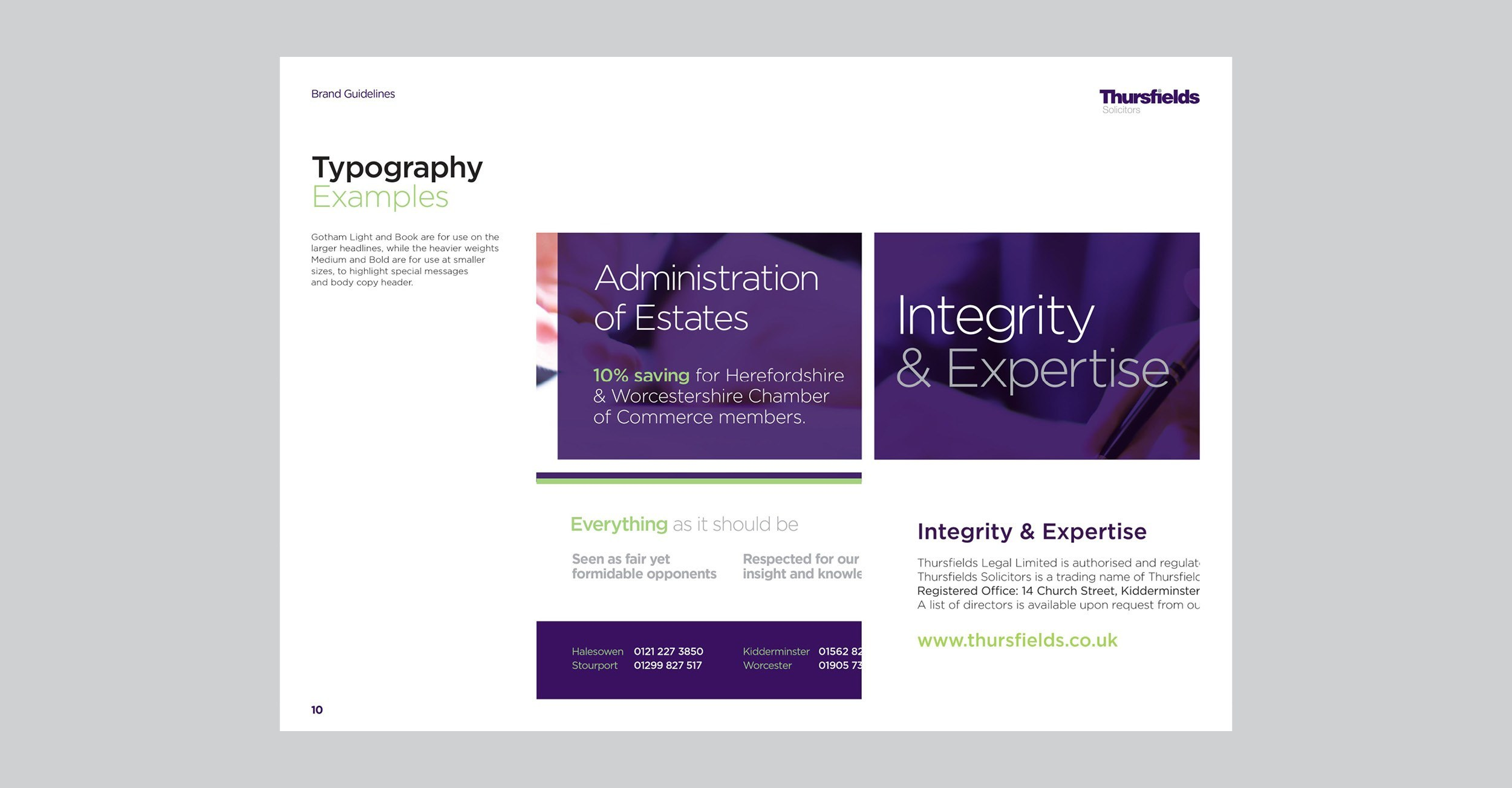 Thursfields Solicitors - Identity Update - Brand Guidelines - Example 3
