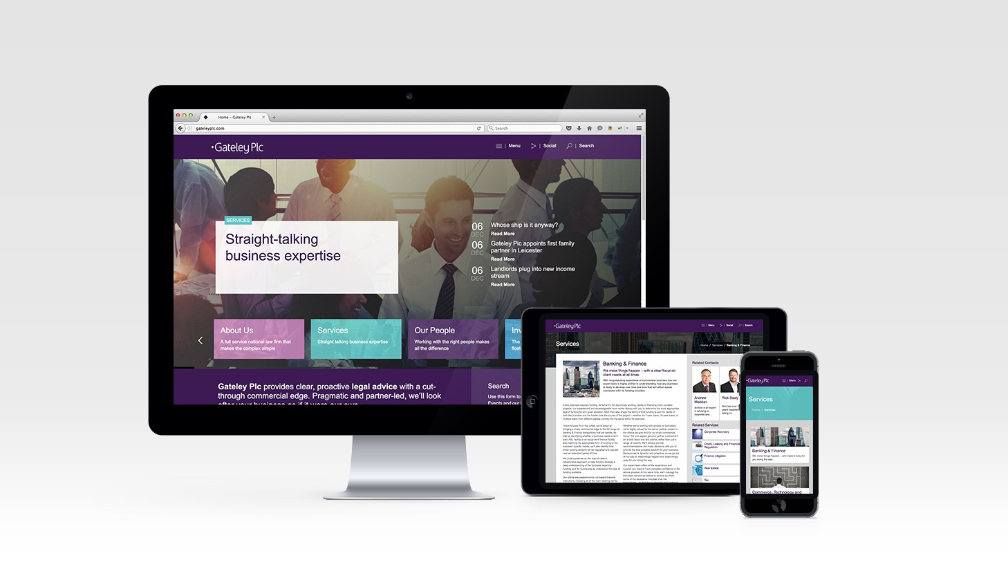 Gateley Plc - Responsive Wordpress Website Design & Development