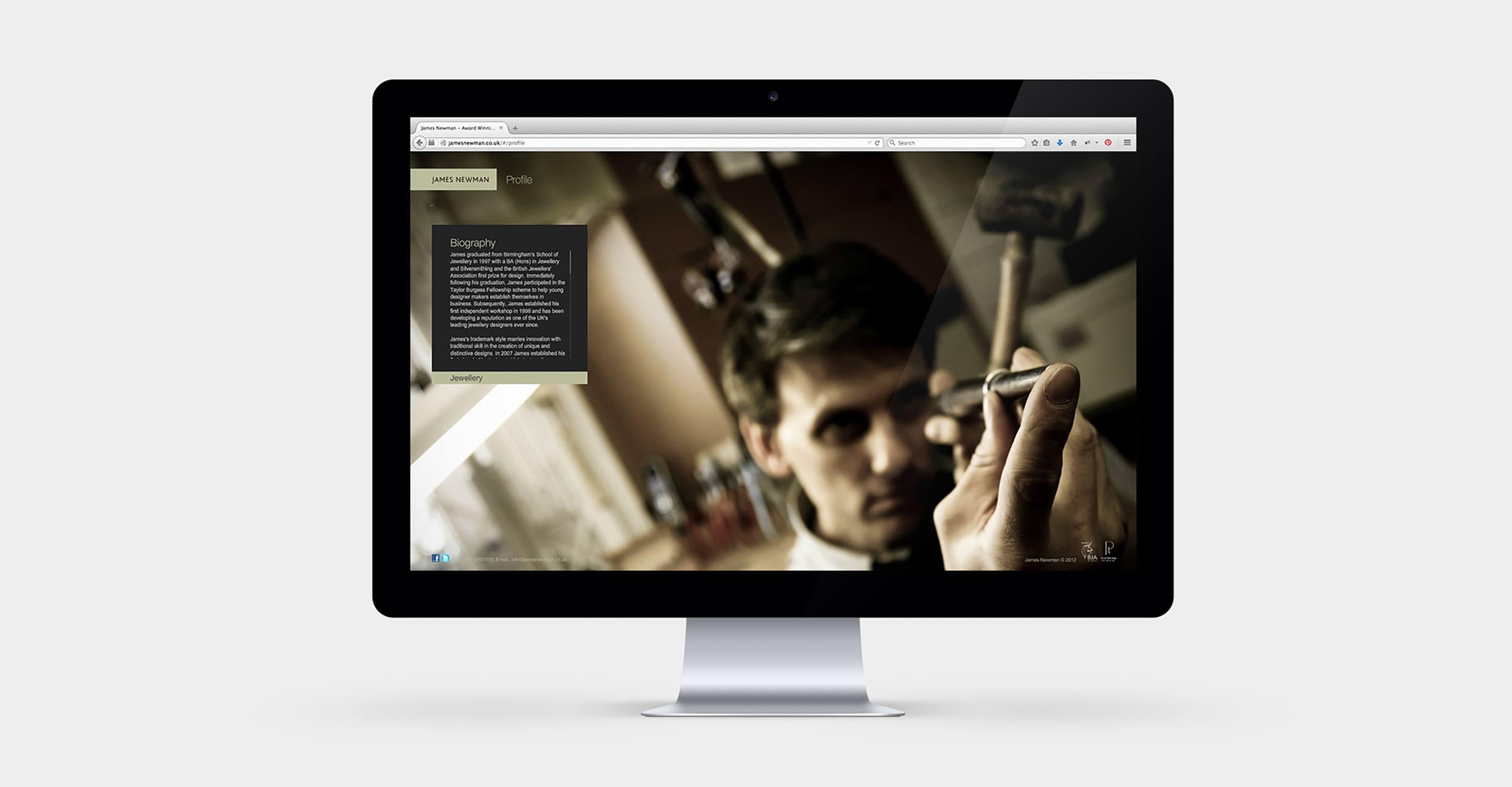 James Newman Jewellery - Website Design & Development