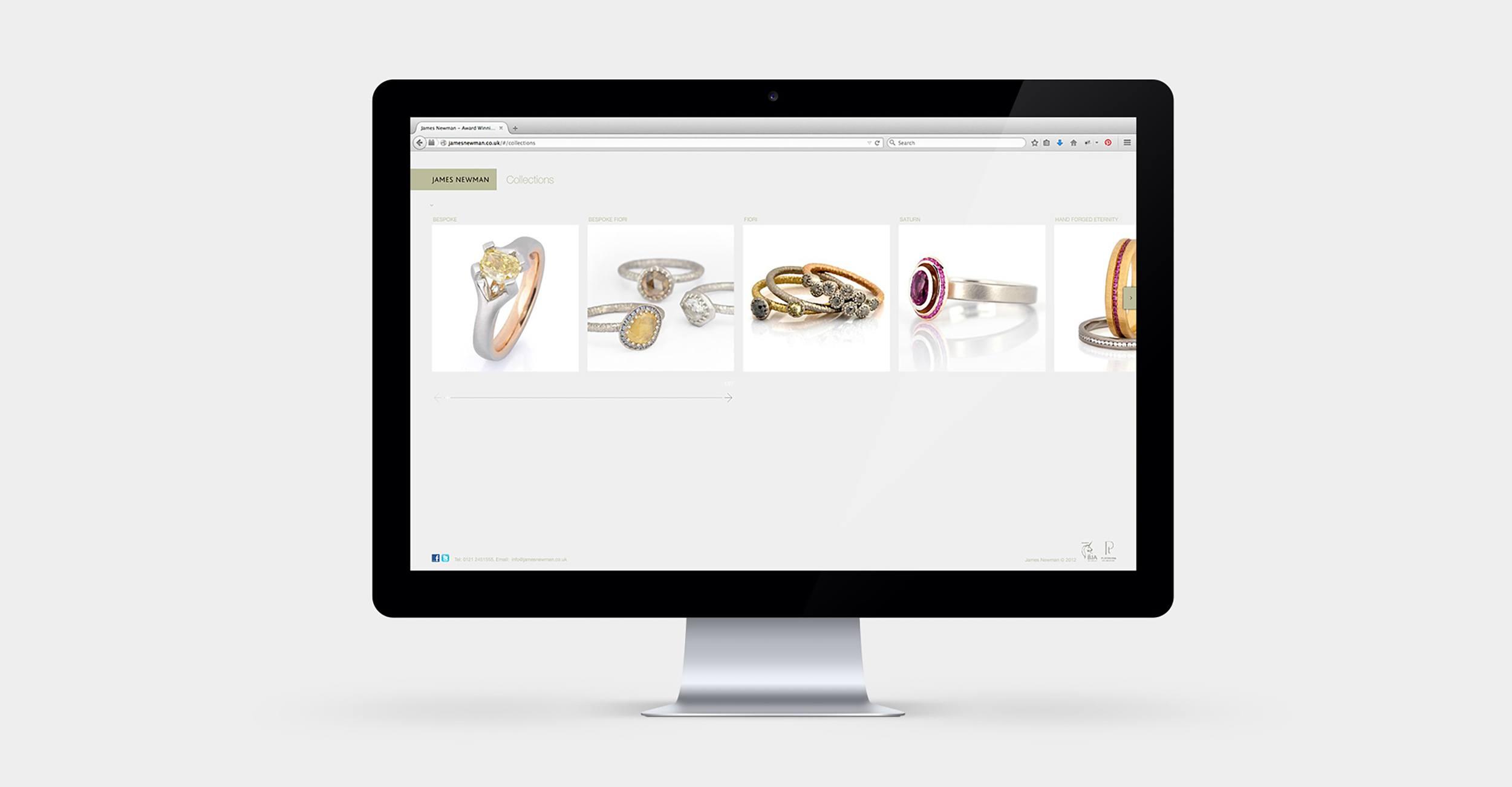 James Newman Jewellery - ECommerce Website Design & Development