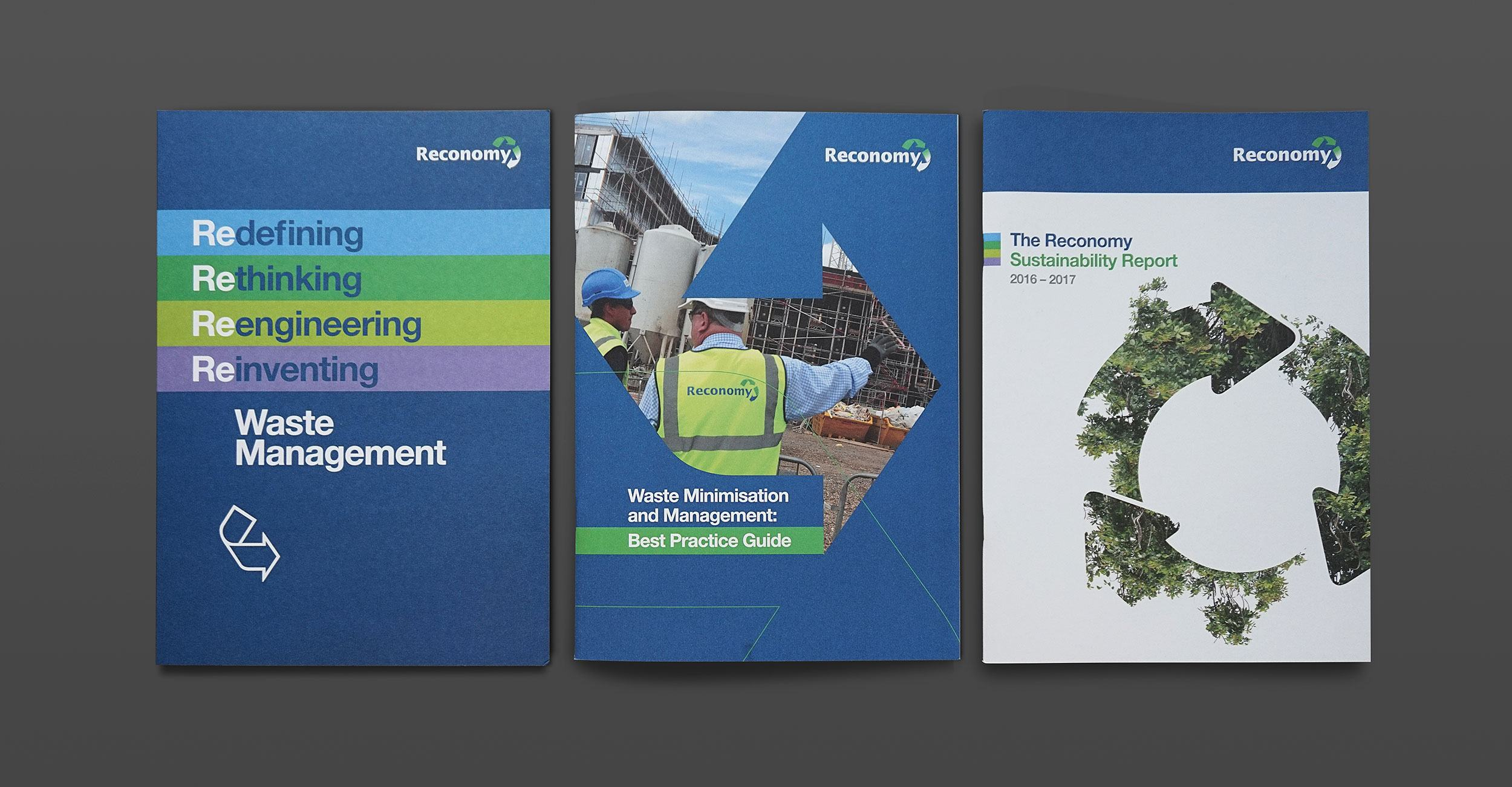 Reconomy - Brochure Design - Cover Examples