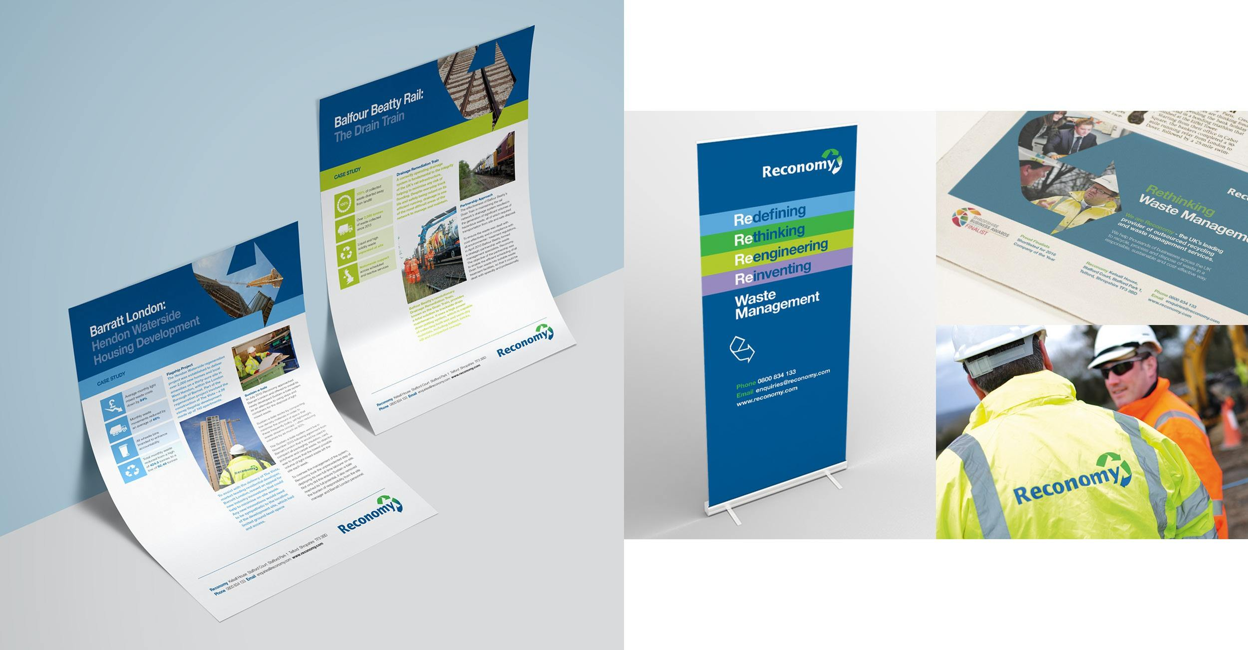 Reconomy - Livery, Flyers, Popup Banners, Advertising Design Examples