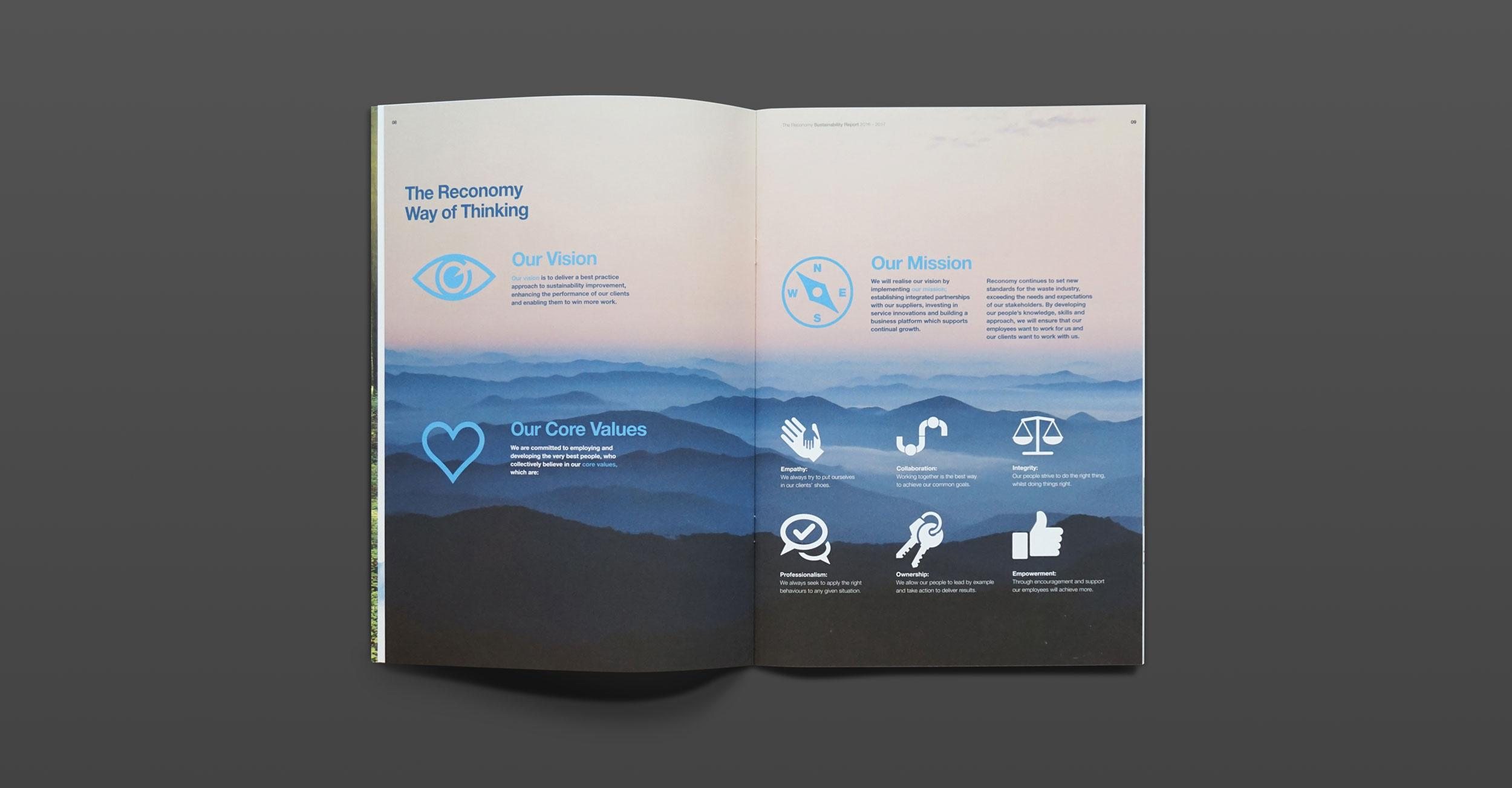 Reconomy - Brochure Design - Inside Example