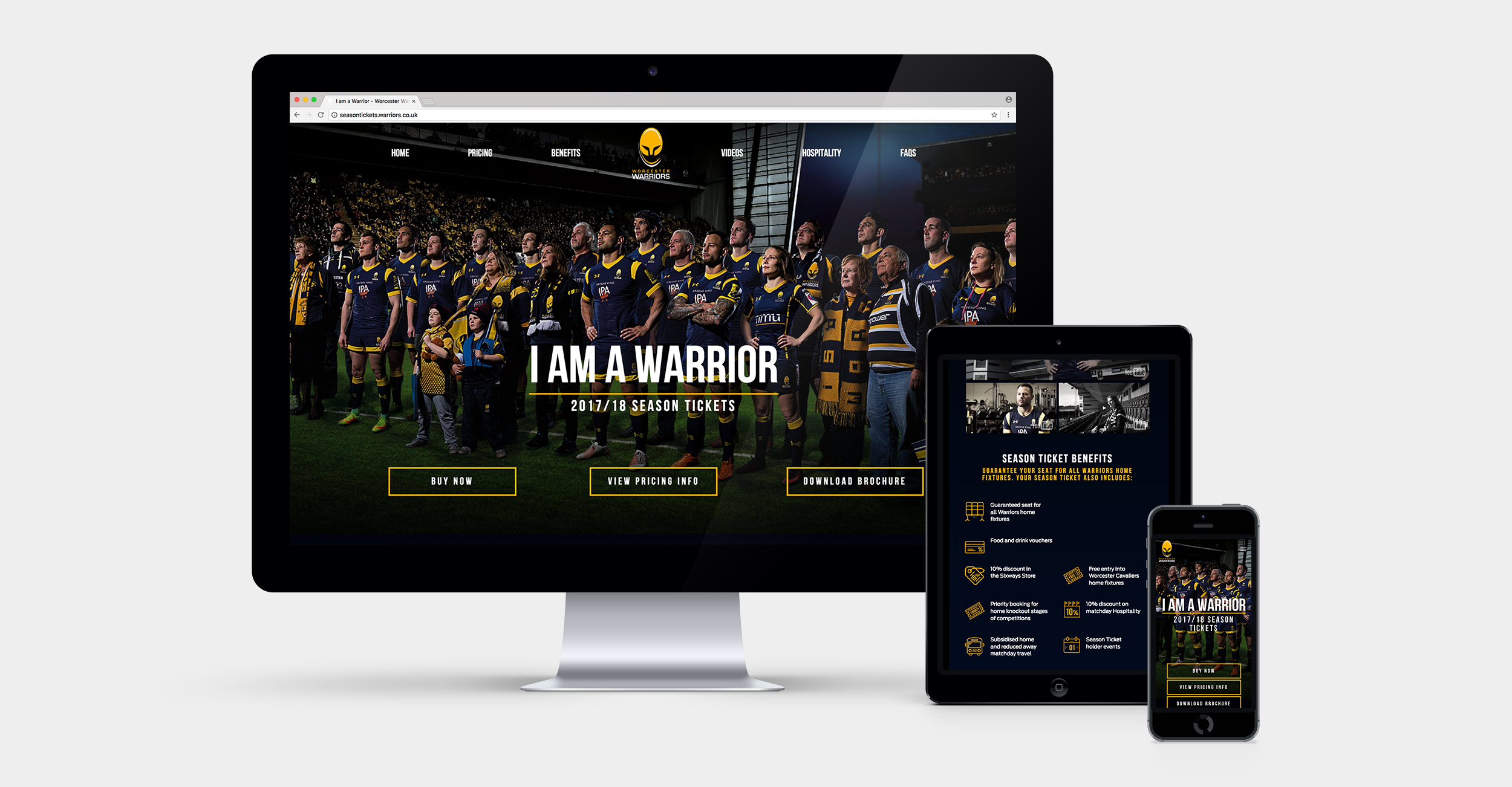 Warriors Season Ticket Website